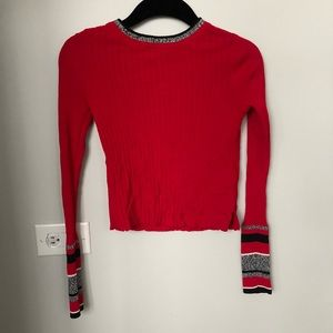 Topshop stretchy crop sweater